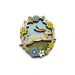 jumping hare brooch by layla amber
