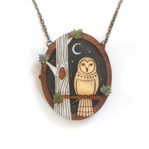 Night Owl Necklace Layla Amber