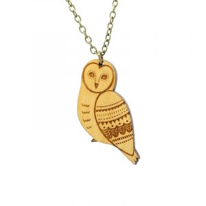 layla amber owl necklace