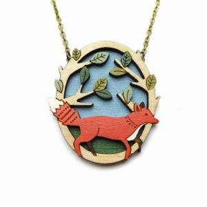 Running Fox Necklace Layla Amber