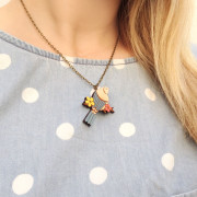 Mini Swallow Necklace Layla Amber
