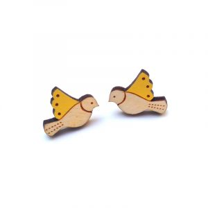 Yellow Bird Earrings Layla Amber
