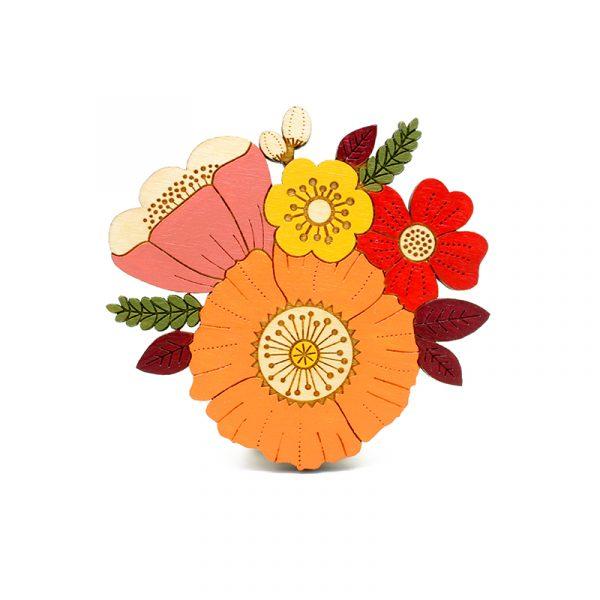 layla amber autumn posy brooch