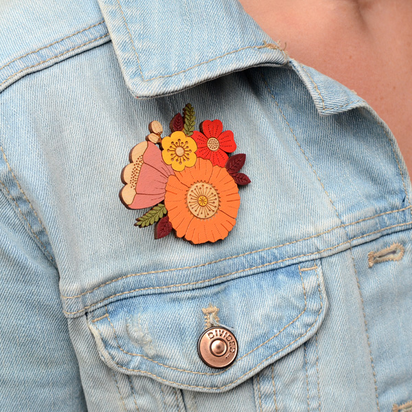 Autumn posy brooch by layla amber
