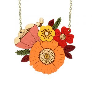 layla amber autumn posy necklace