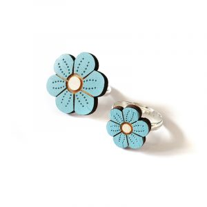 Blue Flower Rings Layla Amber