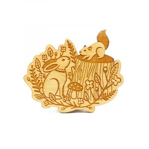layla amber forest brooch