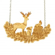 forest friends necklace wb