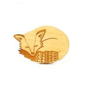 fox brooch wb