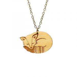 layla amber fox necklace