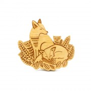 foxes in the forest brooch wb