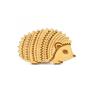 layla amber hedgehog brooch