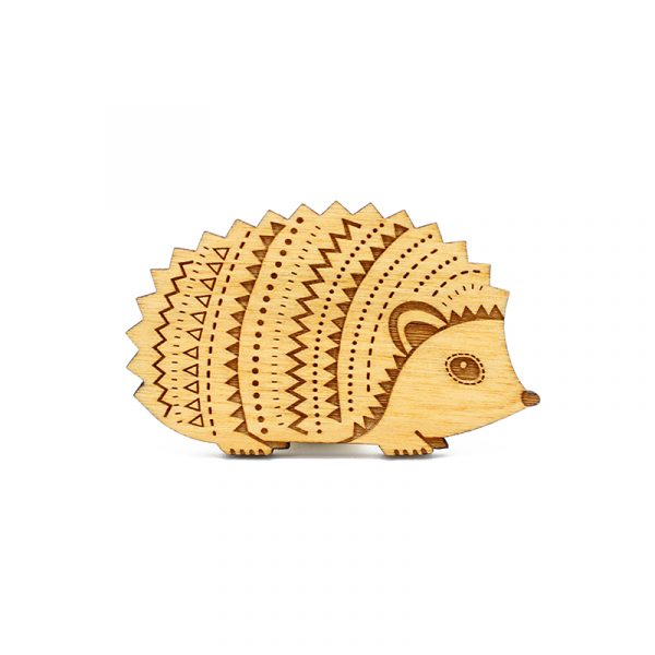 layla amber hedgehog brooch
