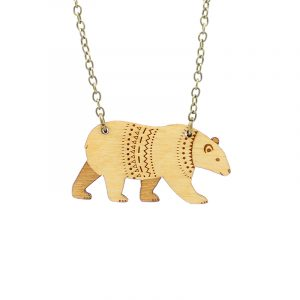 layla amber bear necklace