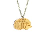layla amber hedgehog necklace