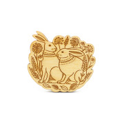 layla amber spring hares brooch