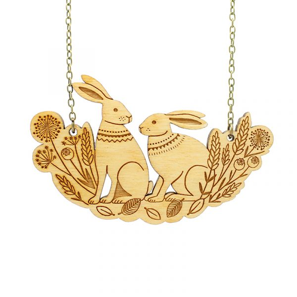 spring hares necklace layla amber