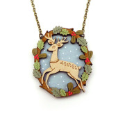 Leaping Deer Necklace Layla Amber