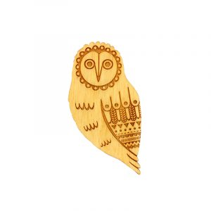 layla amber owl brooch