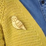 owl brooch wearing 2019