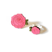 Pink Flower Rings Layla Amber