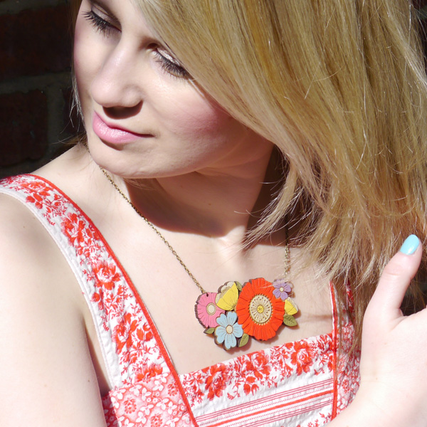 poppy bouquet necklace by layla amber