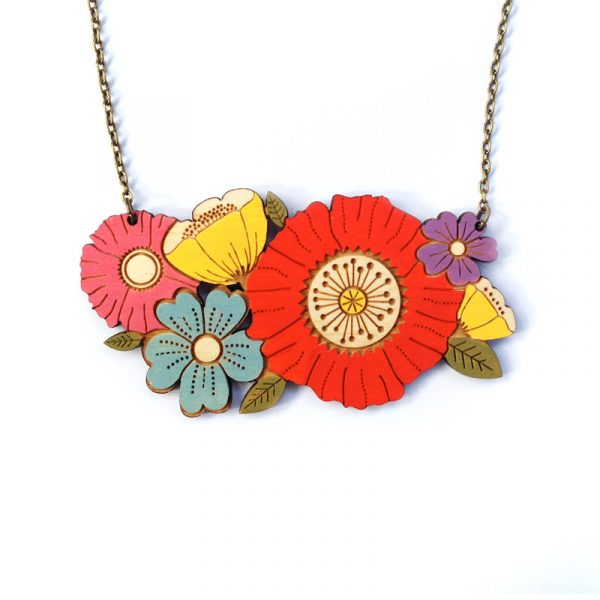 Poppy Bouquet Necklace Layla Amber