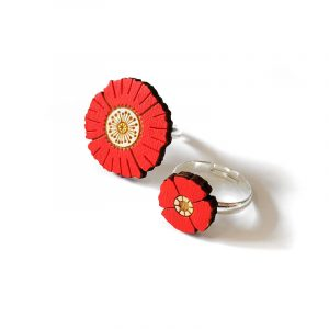 Red Flower Rings Layla Amber