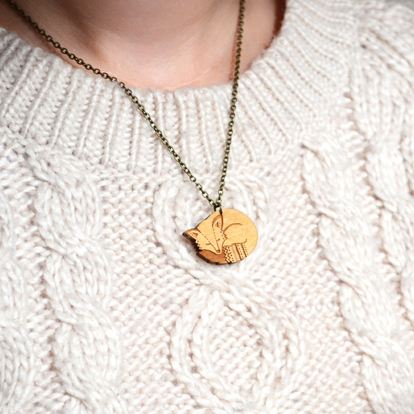 fox necklace by layla amber