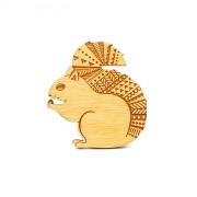 squirrel brooch wb
