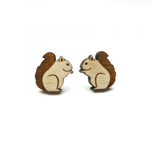 Squirrel Earrings Layla Amber