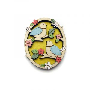 Two Little Birds Brooch Layla Amber