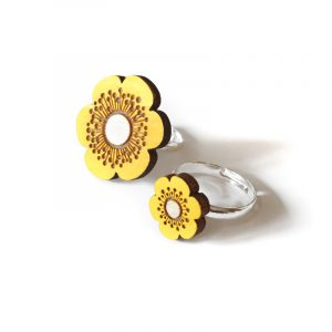 Yellow Flower Rings Layla Amber