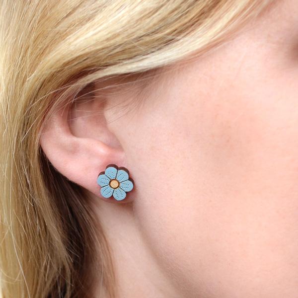 blue flower earrings by layla amber
