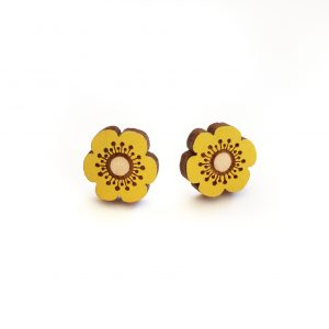 Layla Amber - Yellow Flower Earrings