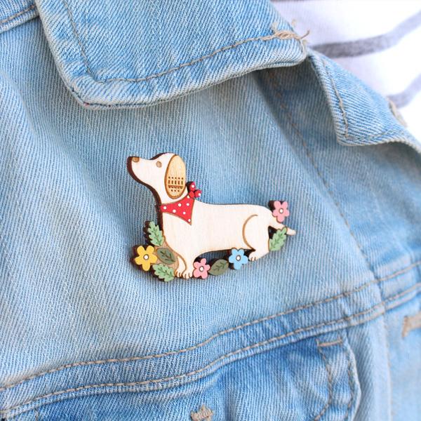 dachshund brooch by layla amber