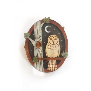 night owl brooch by layla amber