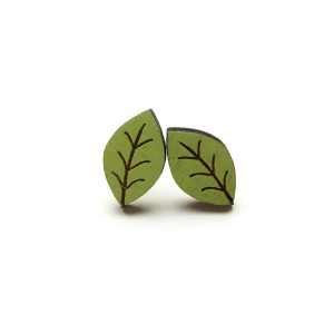 beech leaf earrings by layla amber
