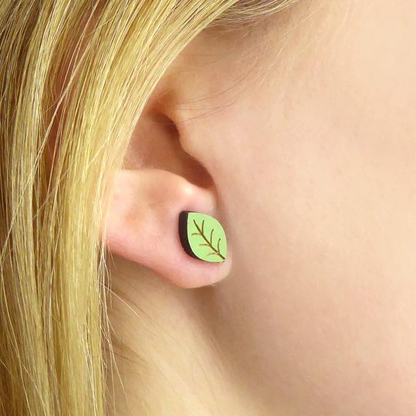 beech leaf earrings by layla amber