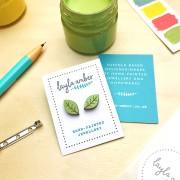 beech leaf earrings on card