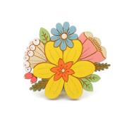 daffodil-posy-brooch