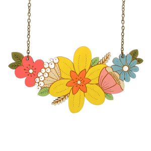 daffodil posy flower necklace by layla amber