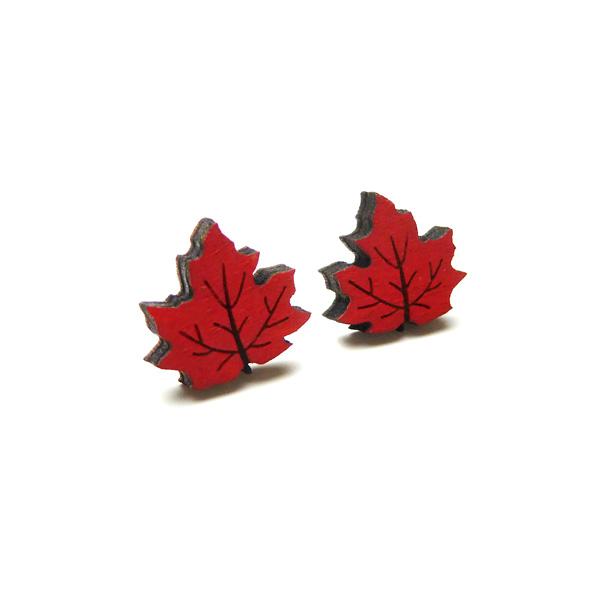 maple leaf earrings by layla amber
