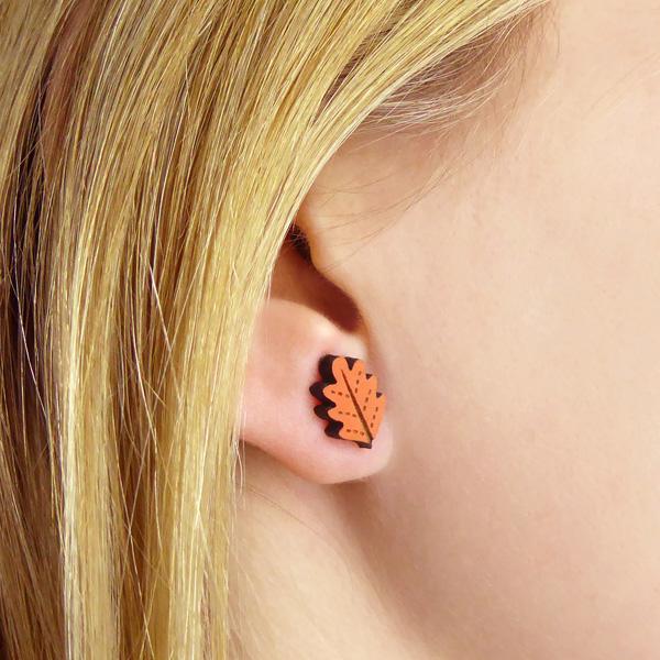 oak leaf earrings by layla amber