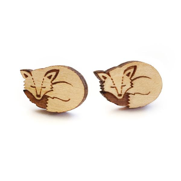sleeping fox earring by layla amber