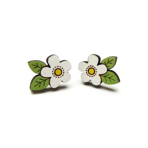 white flower earrings by layla amber