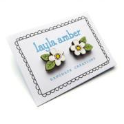 white-flower-earrings-card