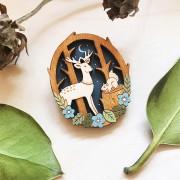 moonlit forest brooch 2
