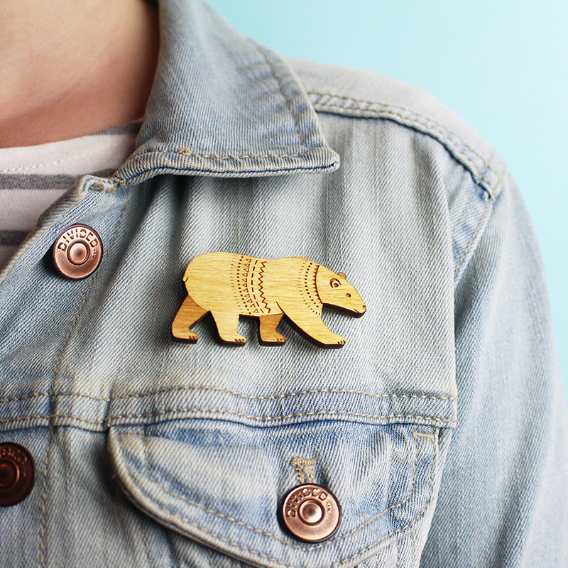 layla amber bear brooch