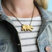 bear necklace wearing